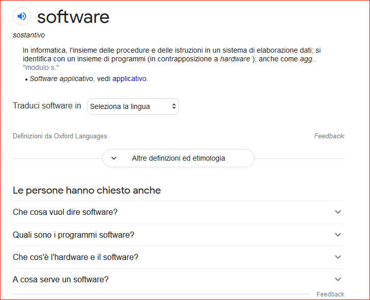 Il Software è....